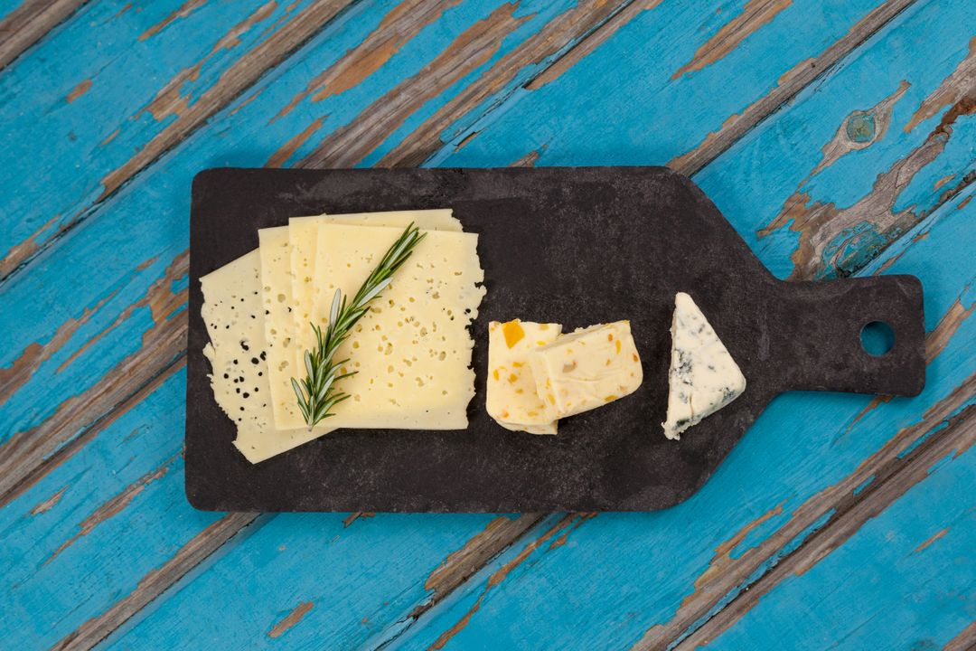 Image of a Plate of Cheese