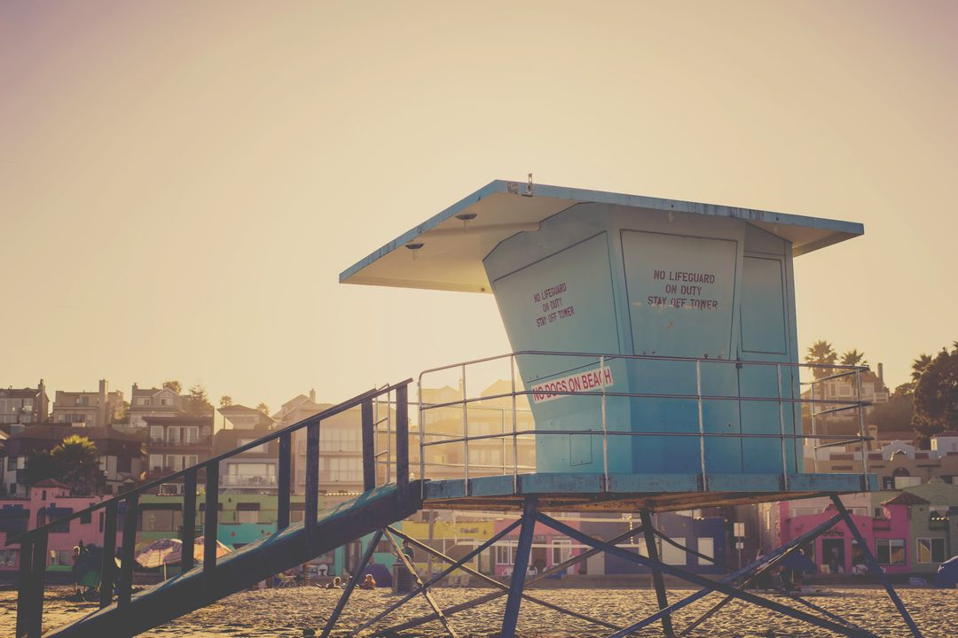 Lifeguard hut beach