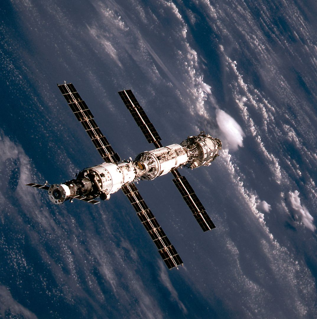 This image of the International Space Station (ISS) was taken when Space Shuttle Atlantis (STS-106 mission) approached the ISS for docking. At the top is the Russian Progress supply ship that is linked with the Russian built Service Module or Zvezda. The Zvezda is cornected with the Russian built Functional Cargo Block (FGB) or Zarya. The U.S. built Node 1 or Unity module is seen at the bottom.