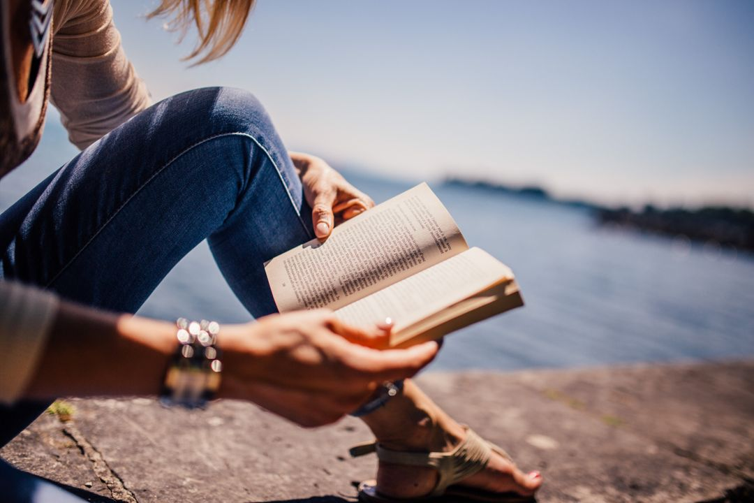 Woman Reading Book Free Photo