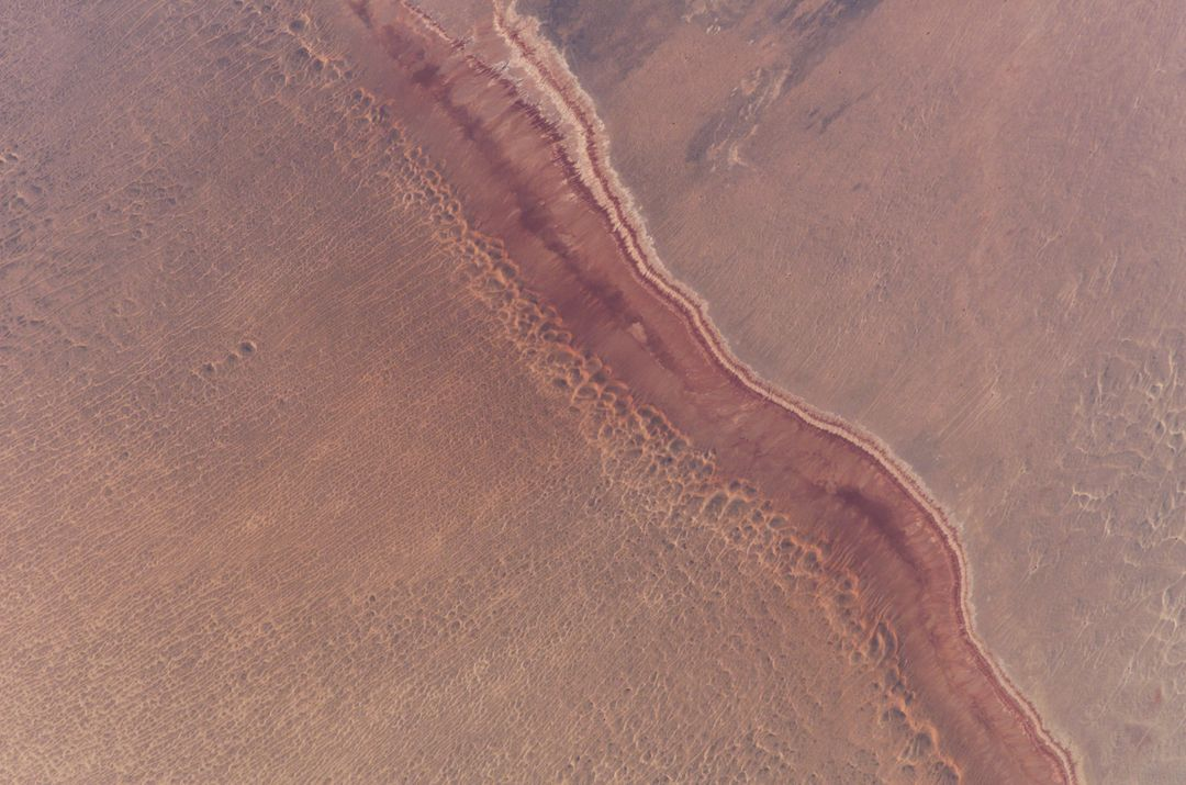 ISS010-E-21297 (25 March 2005) --- North Central China Desert is featured in this image photographed by an Expedition 10 crewmember on the International Space Station. Free Stock Images from PikWizard
