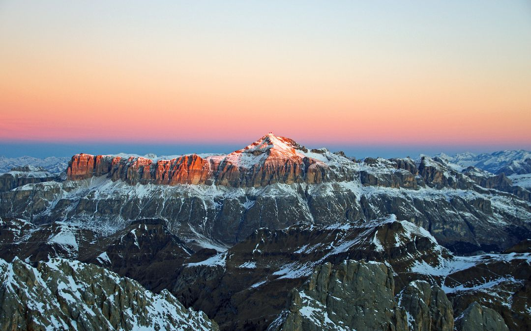 Alps Snow Sunrise Morning Free Photo