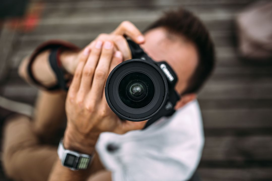 Man Photography DSLR Camera Free Photo