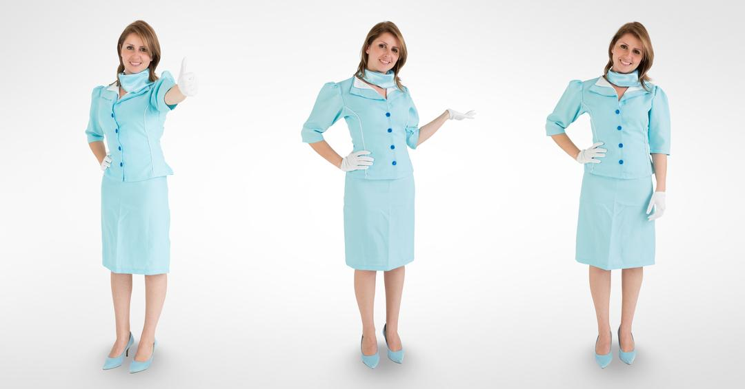 Digital composite of Multiple image of female doctor