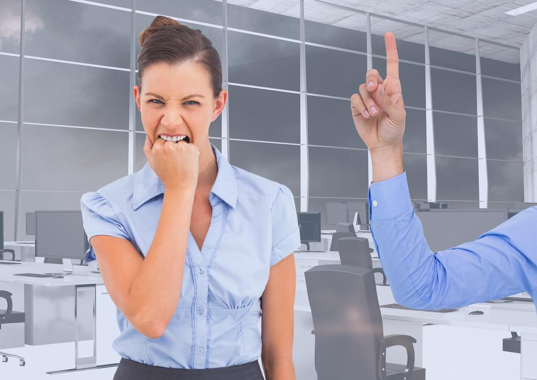 Hand pointing an angry businesswoman at office Free Stock Images from PikWizard
