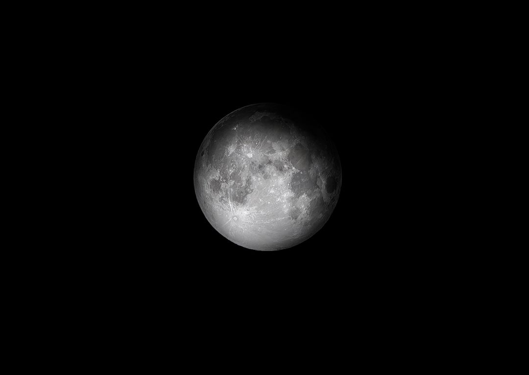 Image of the Moon with a Black Background