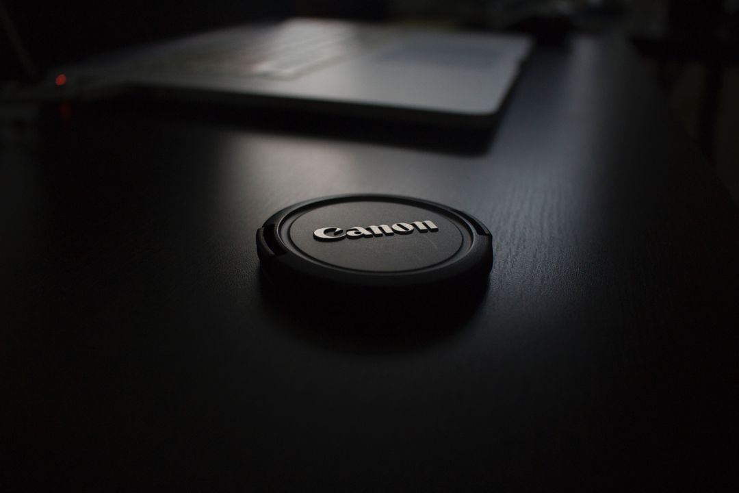 Black Canon Lens Cap Free Photo