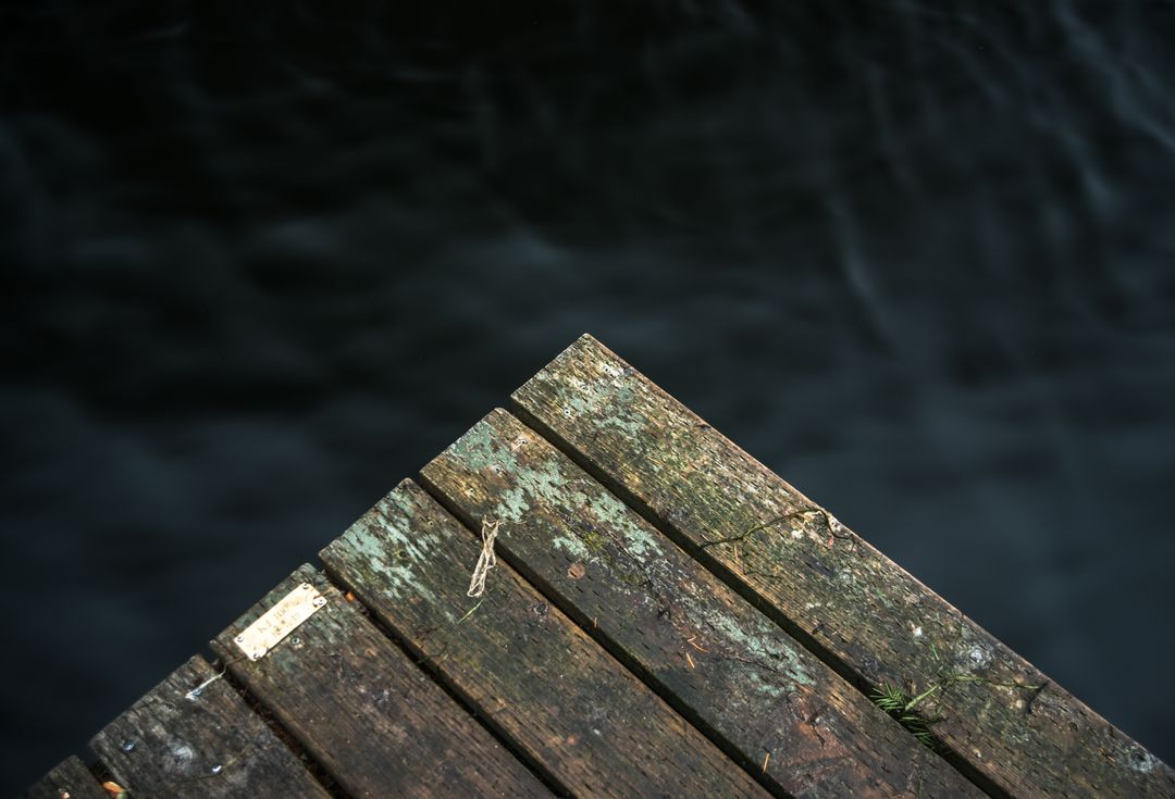 Wood dock water