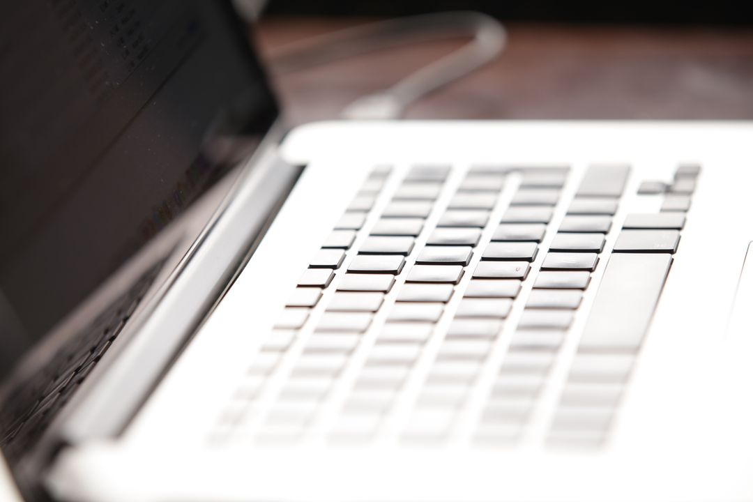 Side Image of a laptop, focusing on the keyboard