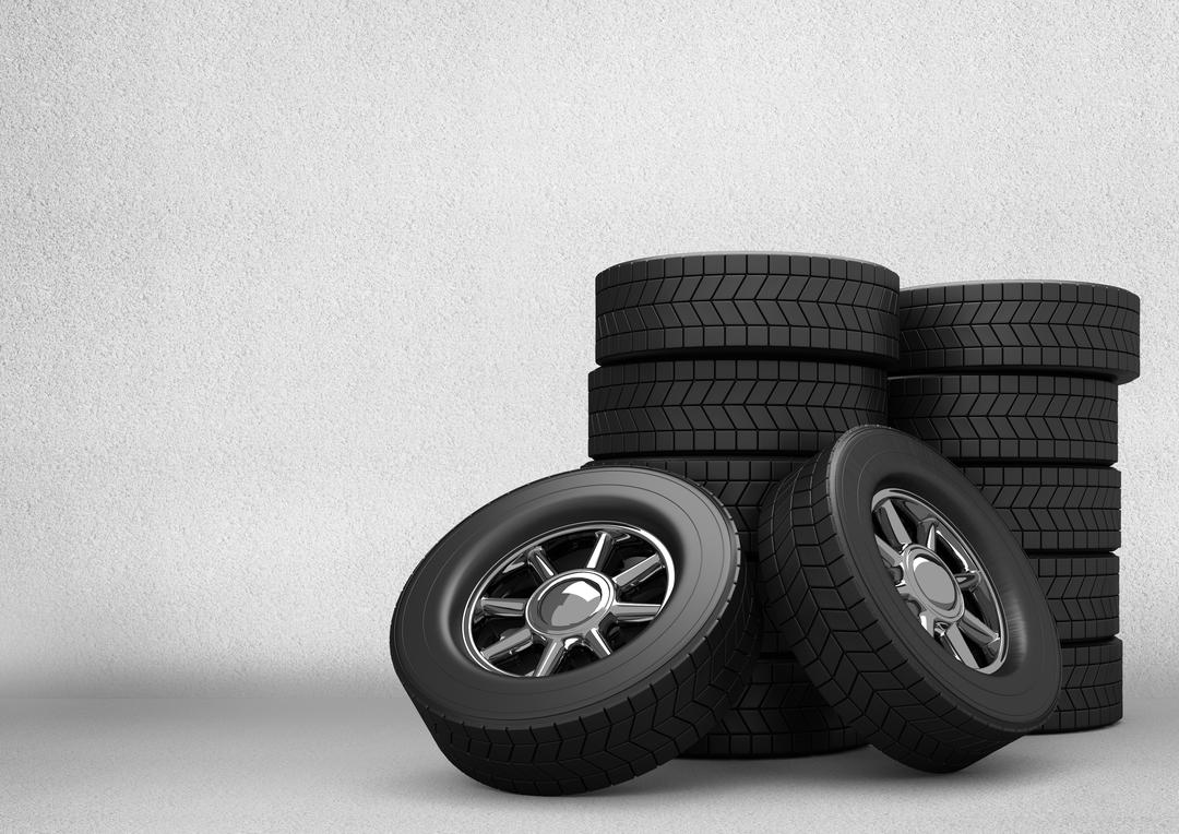 Digital composition of stack of tyres against grey background Free Stock Images from PikWizard