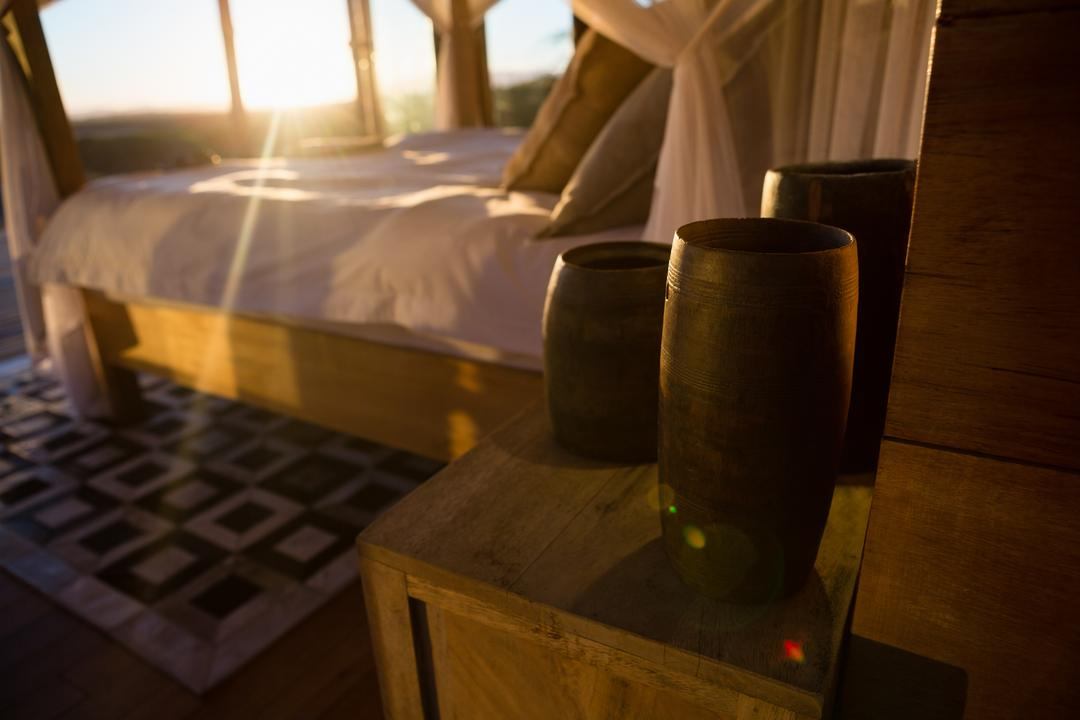 Decor by bed on table Free Stock Images from PikWizard