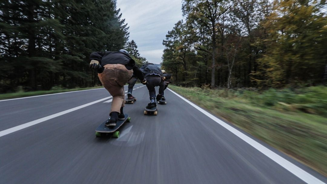 Skaters on the street