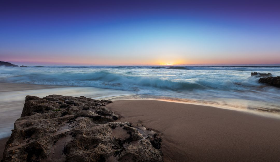 Image of the Beach at Sunrise