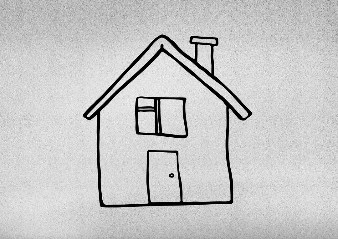 Close-up of a drawn house shape on grey background Free Stock Images from PikWizard