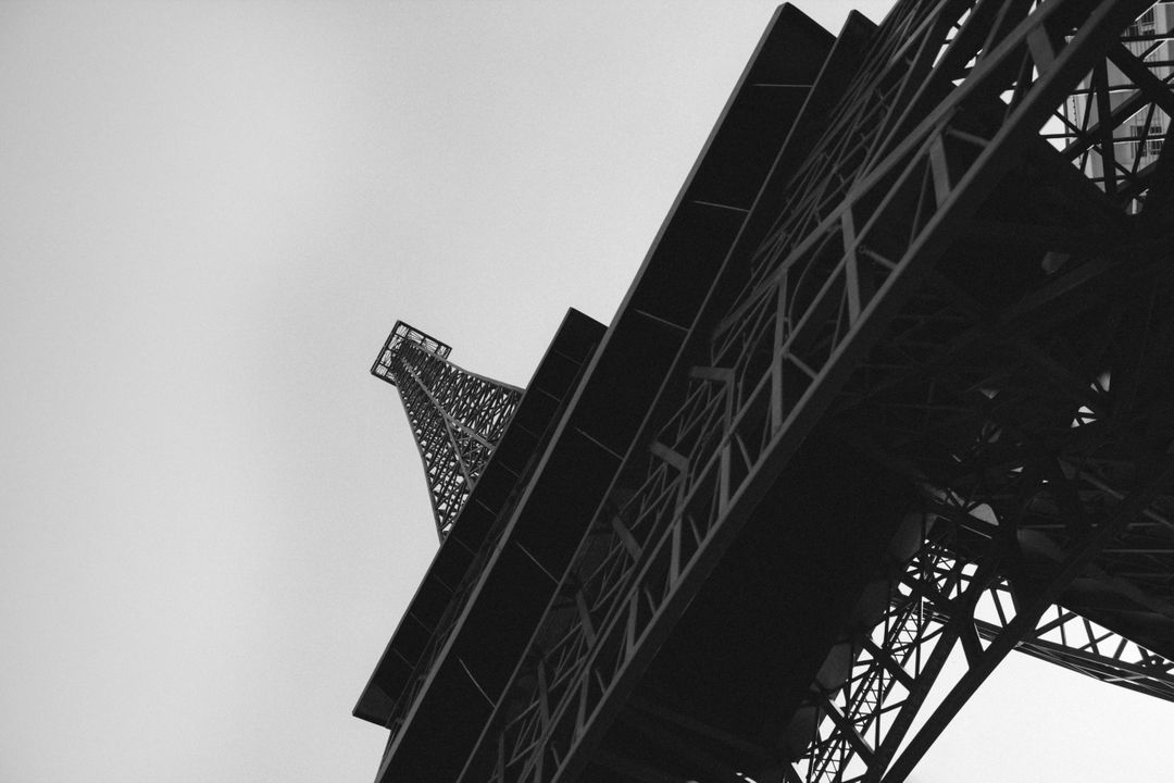 Black White Eiffel Tower France Free Photo