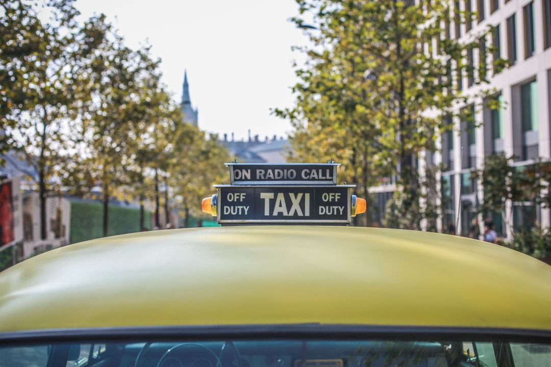 Classic Yellow Taxi Cab Free Photo