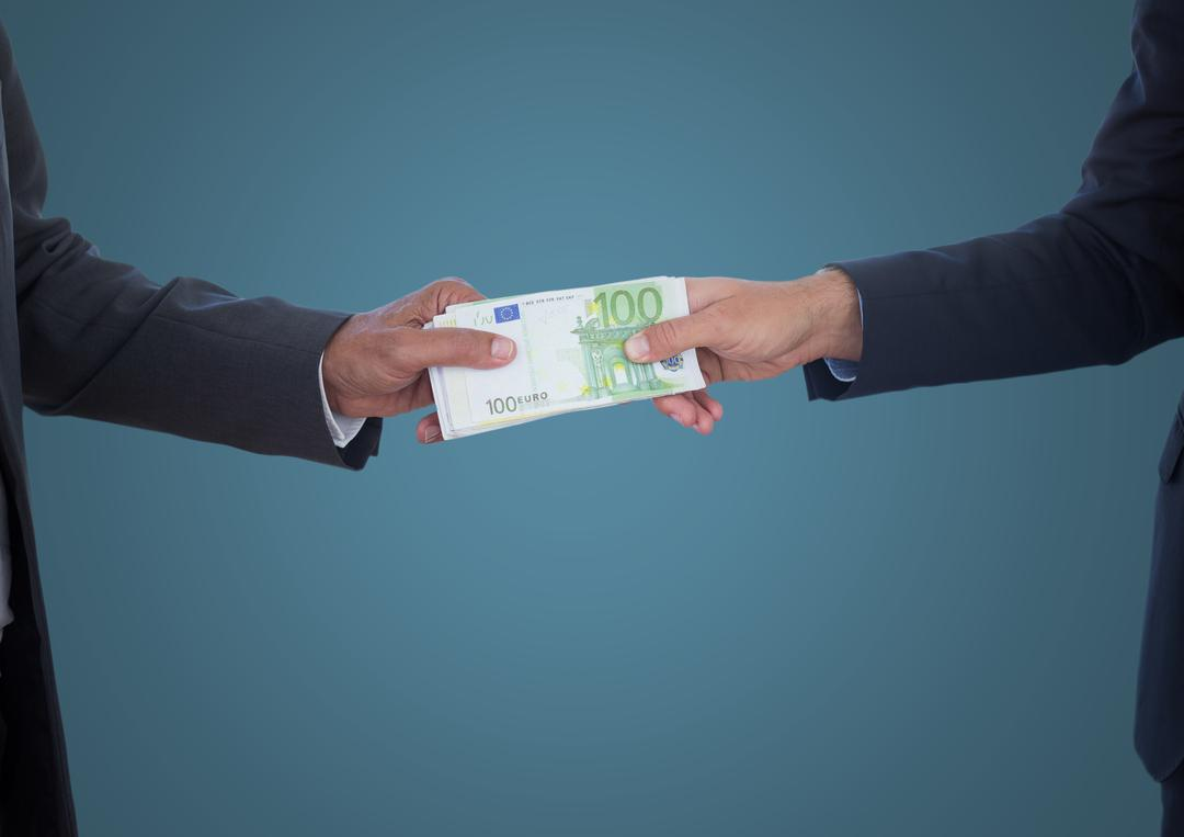 Digital composite of Business money exchange against blue background Free Stock Images from PikWizard
