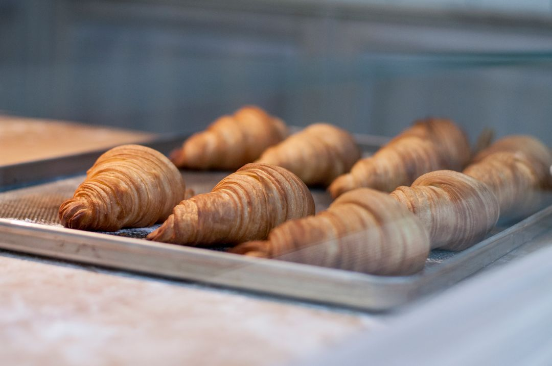 Breakfast bakery dessert croissants