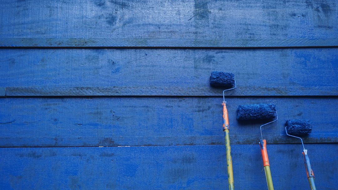 Image of a Classic Blue Painted Wall
