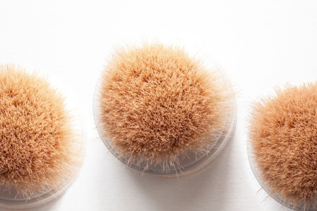 Anti bacterial background brush cosmetics