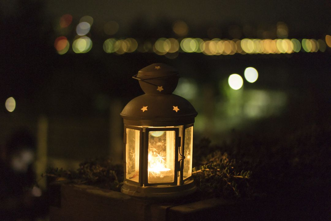 Lantern Candle Light Night Free Photo