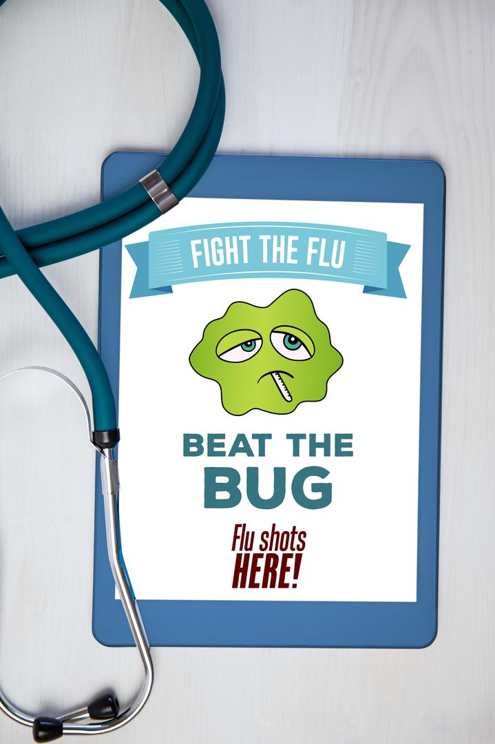 Digital composite of Fight the flu design Free Stock Images from PikWizard