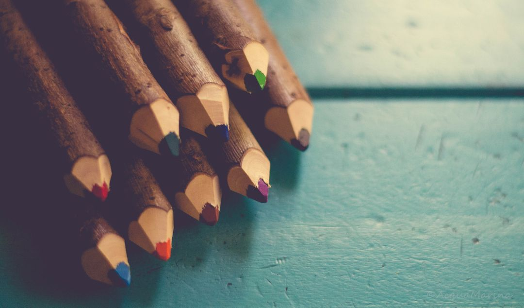 Wooden Color Pencils Free Photo