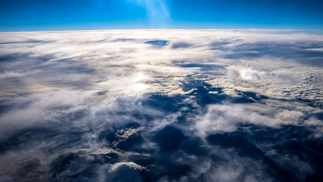 Sky flying clouds earth