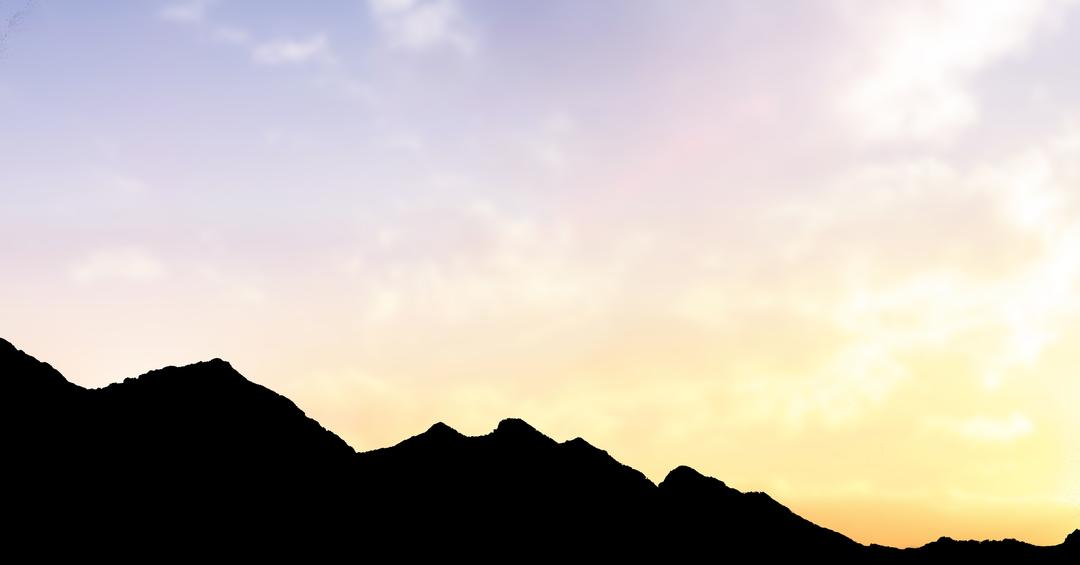 Digital composite of Silhouette mountains against sky during sunset Free Stock Images from PikWizard