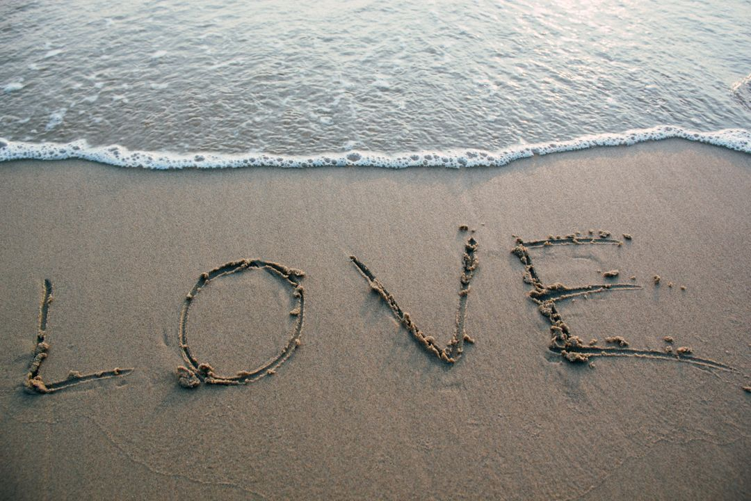 Love Sand Beach Ocean Free Photo
