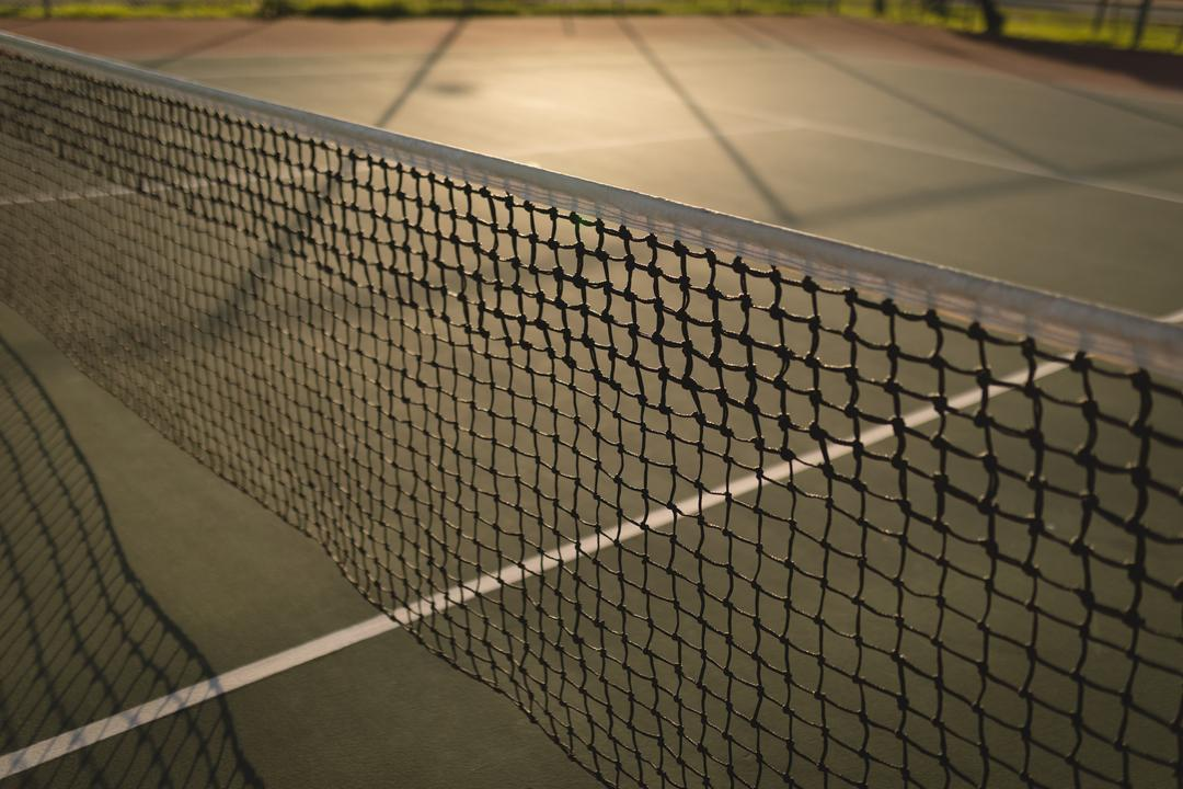 Close-up of net in tennis court