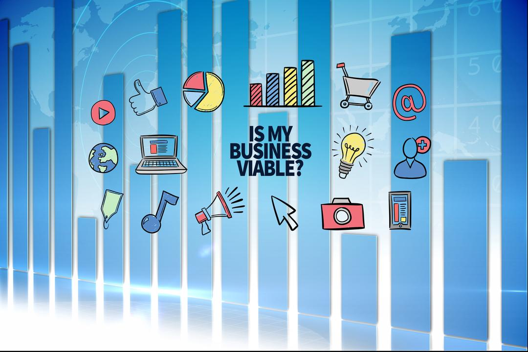 Digital composite of Business viability graphic