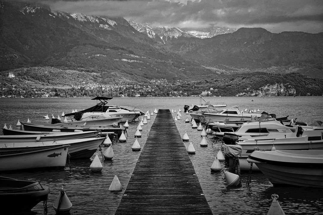 Boating boats dock mountains