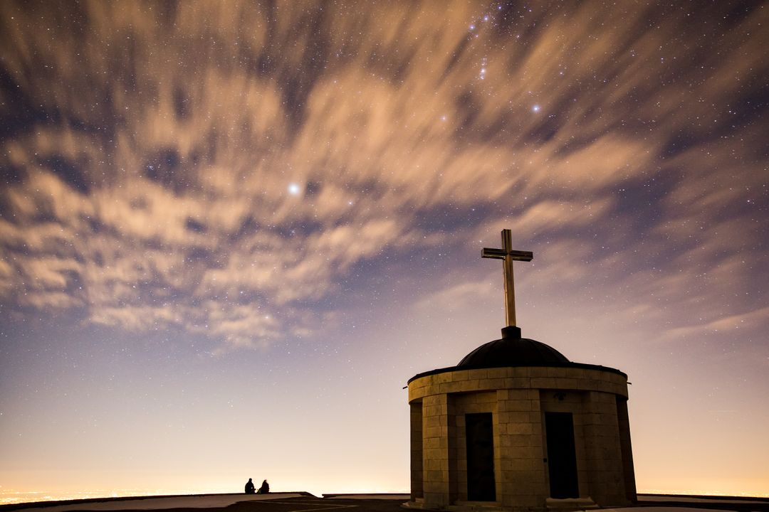Photo of Church during nighttime Free Stock Images from PikWizard